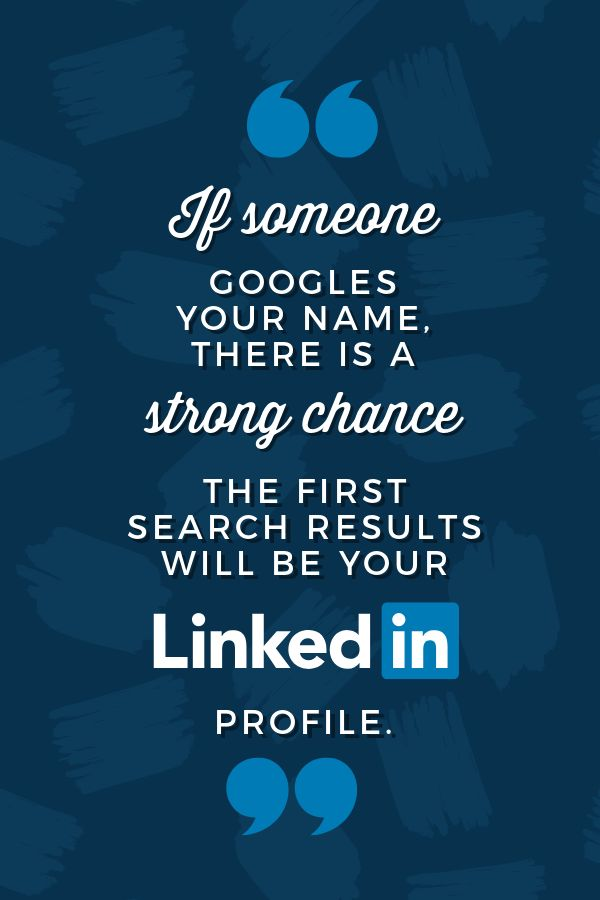 Google your name - LinkedIn Image sizes