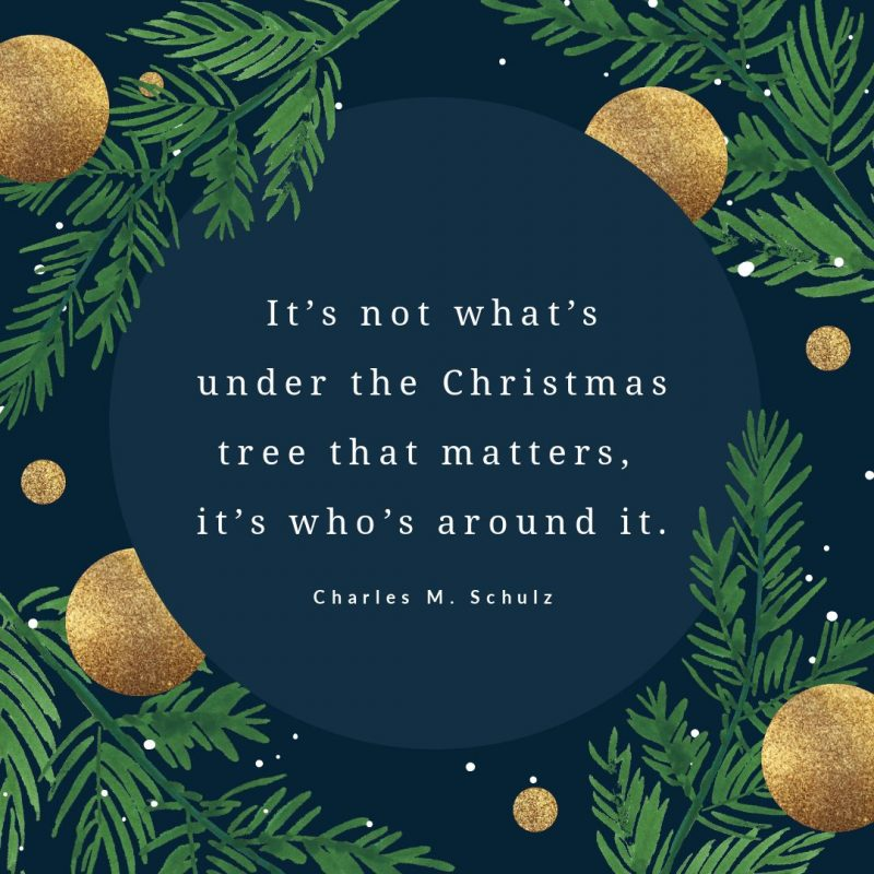 25 Christmas Quotes for Festive Holiday Social Media Posts - blue & gold template