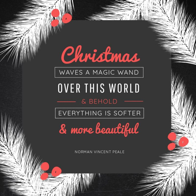 25 Christmas Quotes for Festive Holiday Social Media Posts - Black & Red Graphic Template