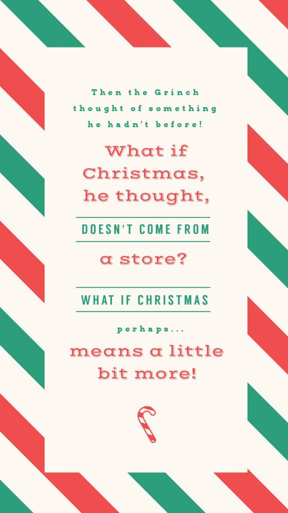 25 Christmas Quotes for Festive Holiday Social Media Posts - red and green striped quote