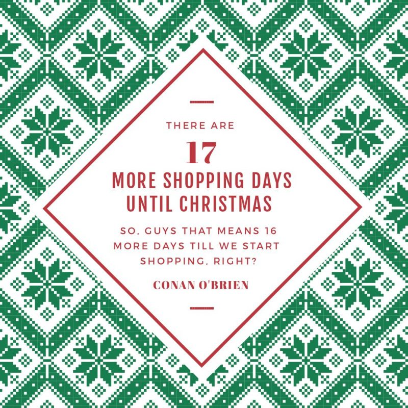25 Christmas Quotes for Festive Holiday Social Media Posts - Graphic with Christmas Jumper pattern