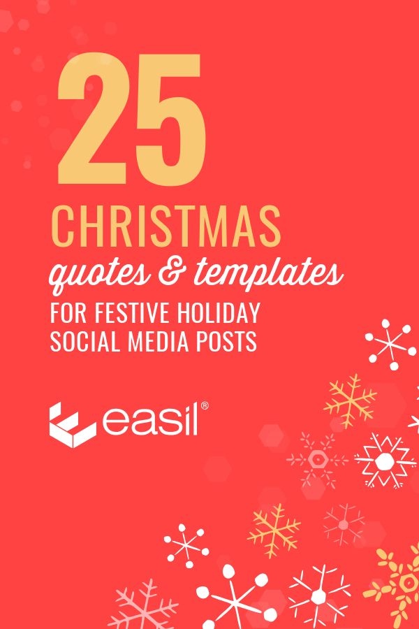 25 Christmas Quotes for Festive Holiday Social Media Posts - Pinterest Graphic