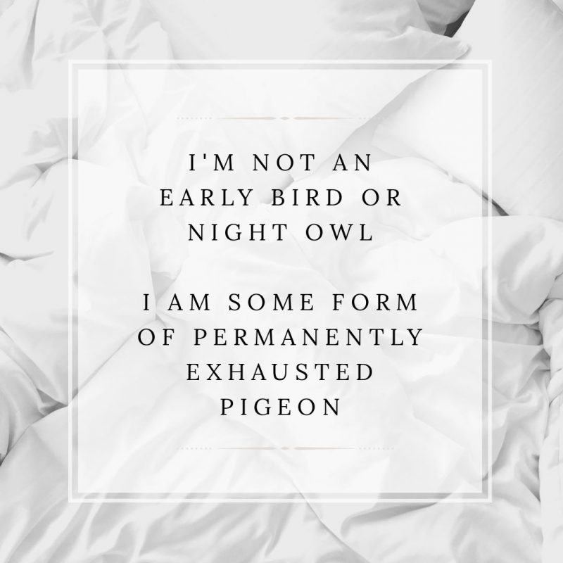 Early Bird Night Owl Quote by Easil - January Content Calendar Ideas + Templates