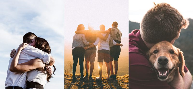 Hug Photos by Unsplash - January Content Calendar Ideas + Templates