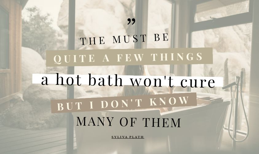 Hot Bath Quote by Easil - January Content Calendar Ideas + Templates