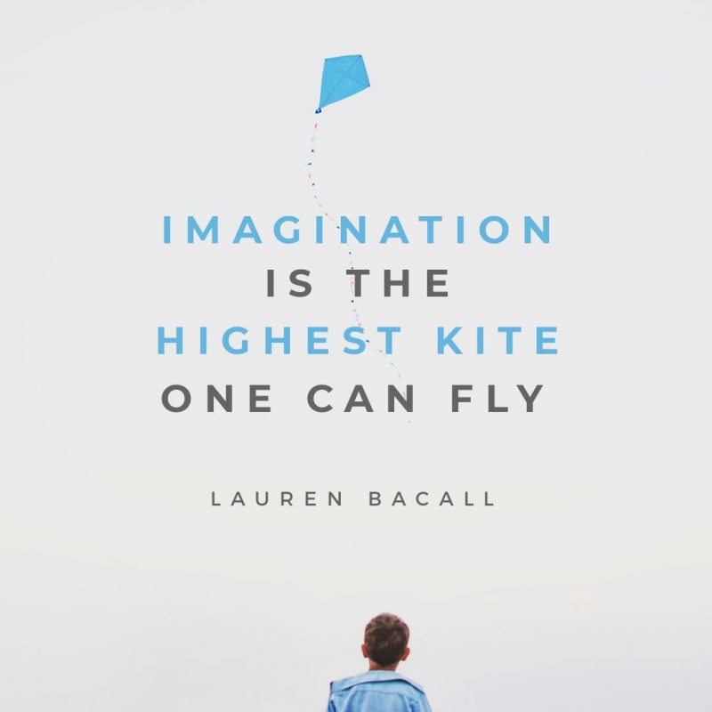 Imagination is the Highest Kite Quote by Easil - January Content Calendar Ideas + Templates