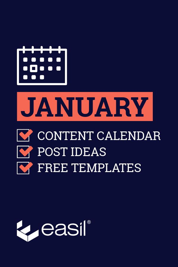 Need January Content Inspiration? Try our January Content Calendar Ideas + Templates #January #January2019 #Calendar