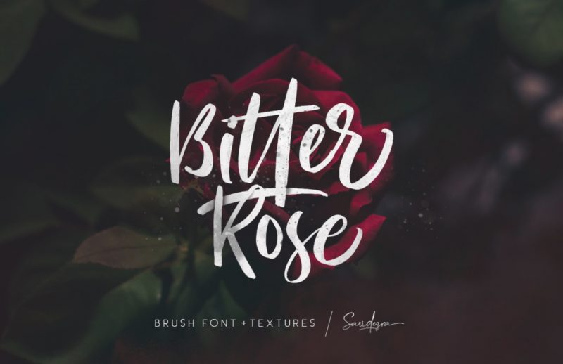 Bitter Rose Brush Font Image - January Content Calendar Ideas + Templates