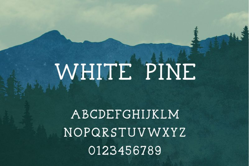White Pine Font - 85 Cool Free Fonts for the Best DIY Designs in 2019