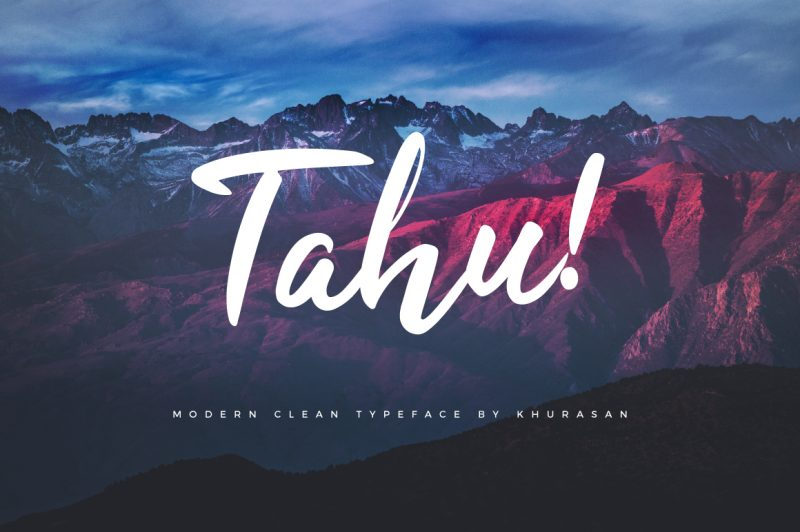 Tahu Font - 85 Cool Free Fonts for the Best DIY Designs in 2019
