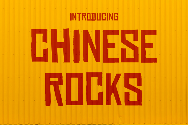 Chinese Rocks Font - 85 Cool Free Fonts for the Best DIY Designs in 2019