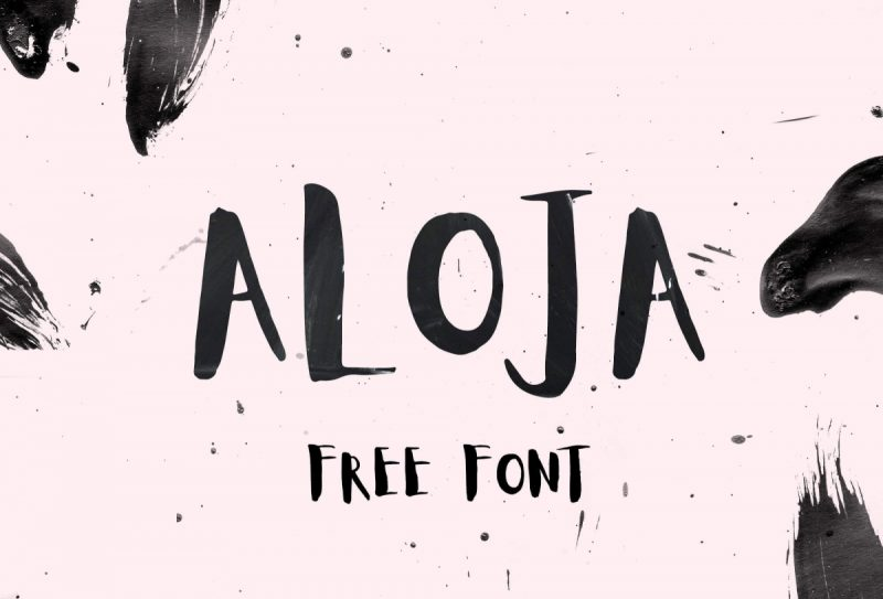 Aloja Font - 85 Cool Free Fonts for the Best DIY Designs in 2019