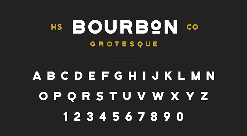 Bourbon Grotesque Font - 85 Cool Free Fonts for the Best DIY Designs in 2019