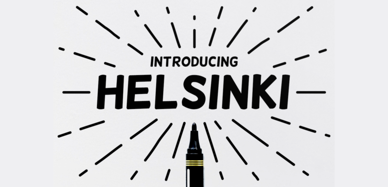 Helsinki Font - 85 Cool Free Fonts for the Best DIY Designs in 2019