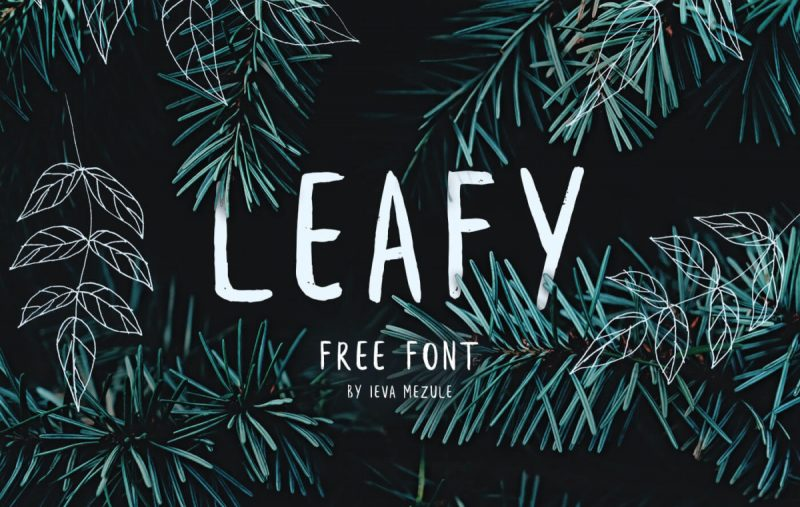 LeafyFont - 85 Cool Free Fonts for the Best DIY Designs in 2019