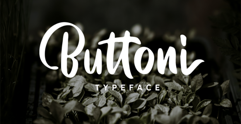 Buttoni Font - 85 Cool Free Fonts for the Best DIY Designs in 2019