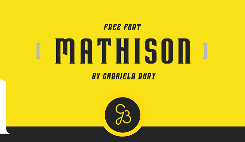 Mathison Font - 85 Cool Free Fonts for the Best DIY Designs in 2019