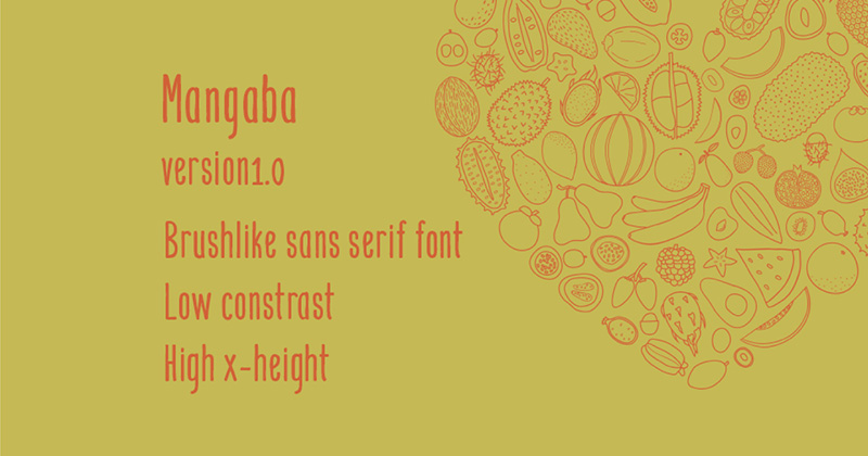 Mangaba Font - 85 Cool Free Fonts for the Best DIY Designs in 2019