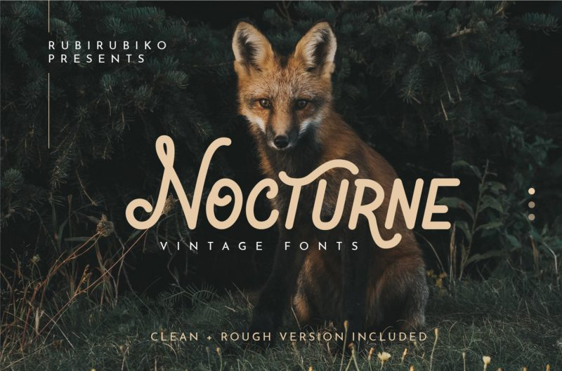 Nocturne Font - 85 Cool Free Fonts for the Best DIY Designs in 2019