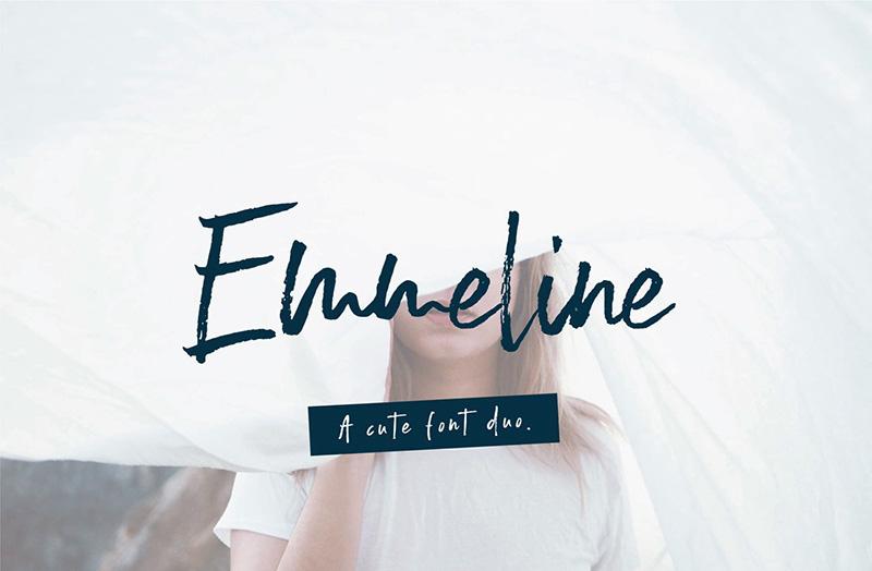 Emmeline Font - 85 Cool Free Fonts for the Best DIY Designs in 2019