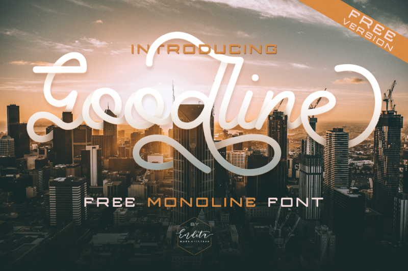 Goodline Font - 85 Cool Free Fonts for the Best DIY Designs in 2019