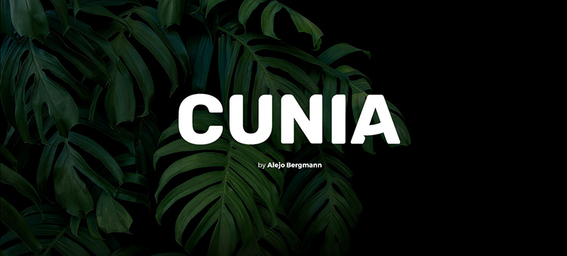 Cunia Font - 85 Cool Free Fonts for the Best DIY Designs in 2019