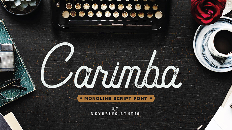 Carimba Font - 85 Cool Free Fonts for the Best DIY Designs in 2019