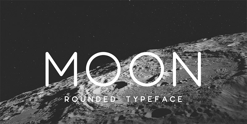 Moon Font - 85 Cool Free Fonts for the Best DIY Designs in 2019