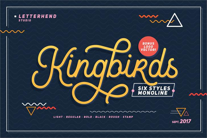 Kingbirds Font - 85 Cool Free Fonts for the Best DIY Designs in 2019