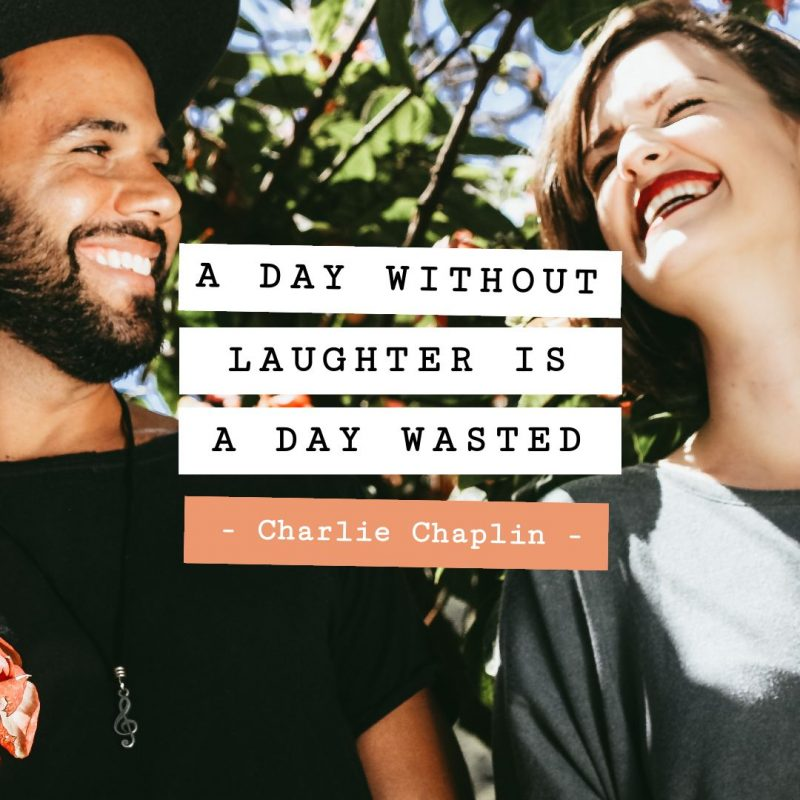 A day without laughter is a day wasted Quote Template by Easil - January Content Calendar Ideas + Templates