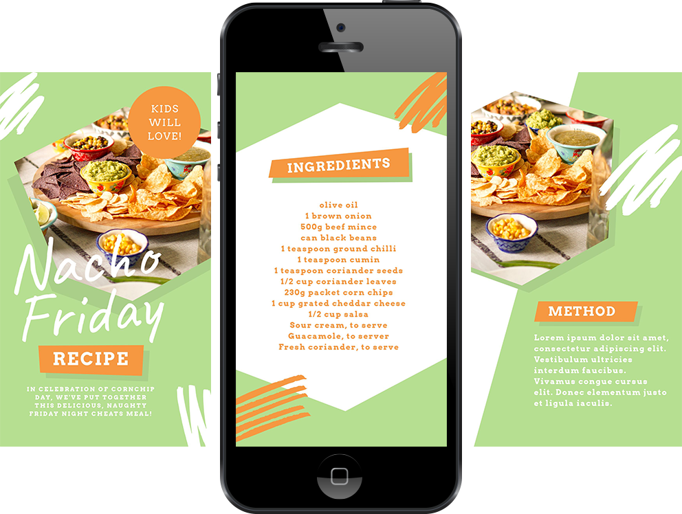 Nacho Friday Instagram Story Template by Easil - January Content Calendar Ideas + Templates