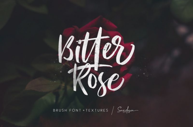 Bitter Rose Font - 85 Cool Free Fonts for the Best DIY Designs in 2019