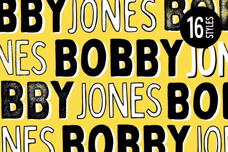 Bobby Jones Font - 85 Cool Free Fonts for the Best DIY Designs in 2019