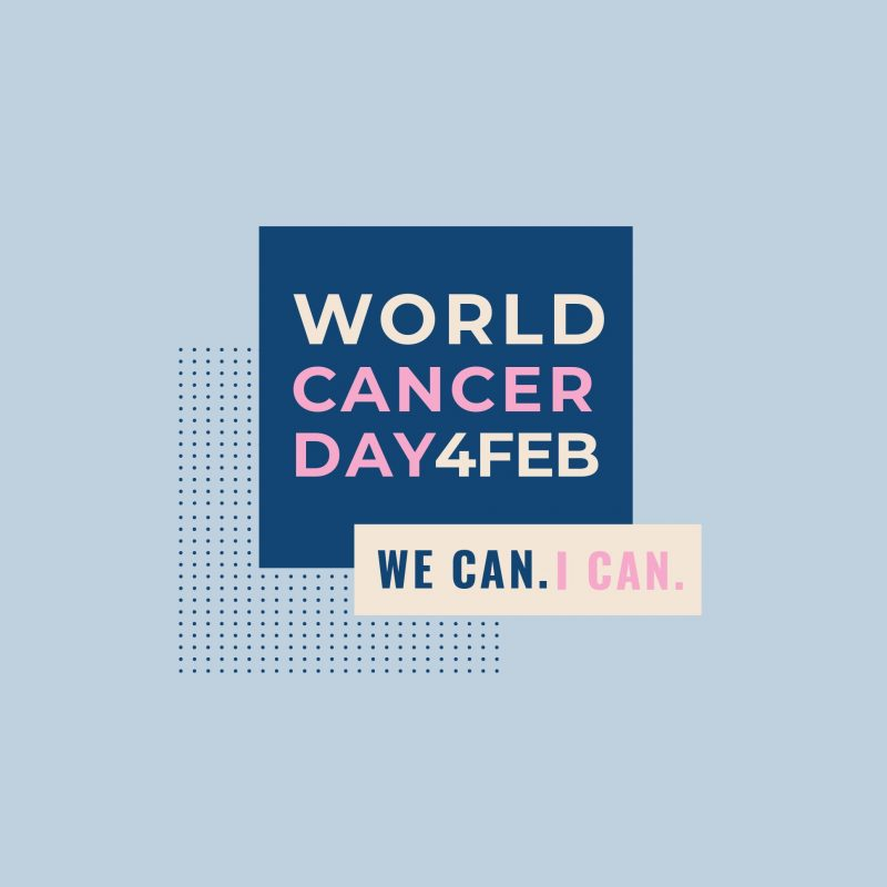 World Cancer Day graphic template - February Content Calendar Ideas + Templates