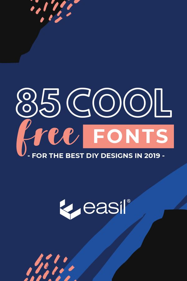 85 Cool Free Fonts to create the best DIY designs