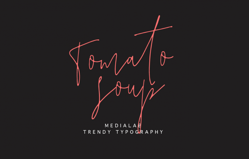 Tomato Soup Font - 85 Cool Free Fonts for the Best DIY Designs in 2019