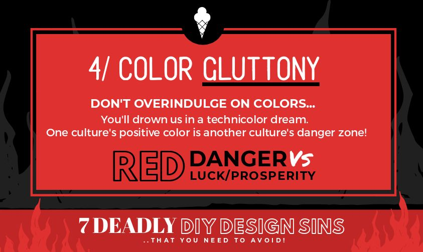 Color Gluttony - 7 Deadly DIY Design Sins (and how to avoid them!)