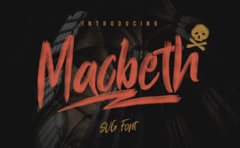 Macbeth Font - 85 Cool Free Fonts for the Best DIY Designs in 2019