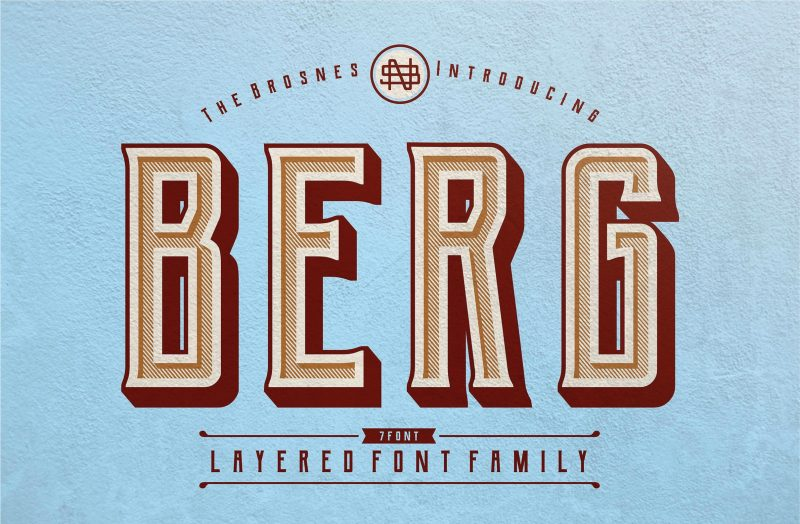 Berg Font - 85 Cool Free Fonts for the Best DIY Designs in 2019
