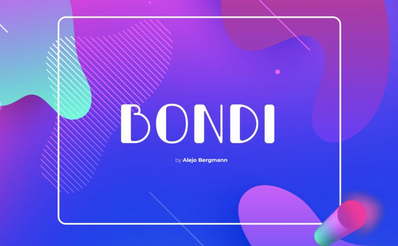 Bondi Font - 85 Cool Free Fonts for the Best DIY Designs in 2019