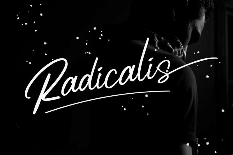 Radicalis Font - 85 Cool Free Fonts for the Best DIY Designs in 2019