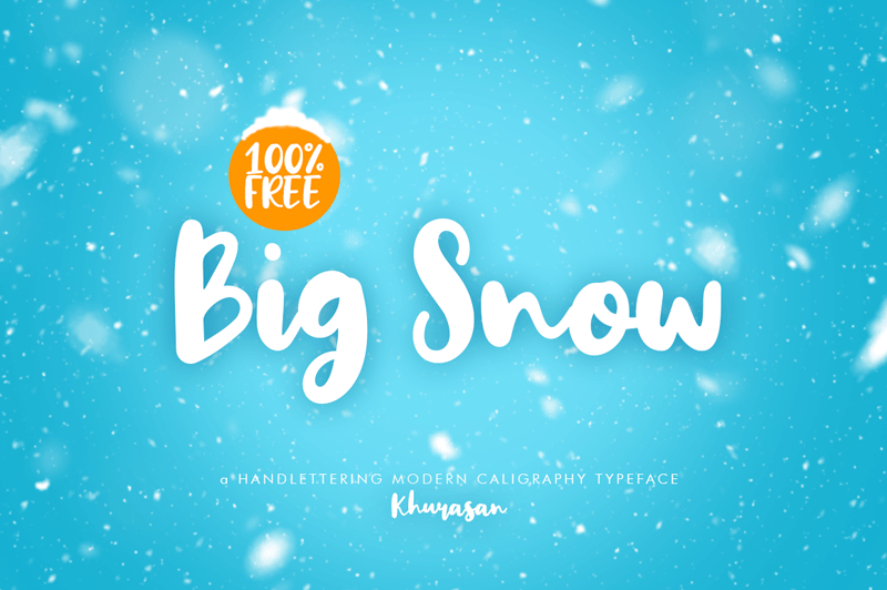 Big Snow Font - 85 Cool Free Fonts for the Best DIY Designs in 2019