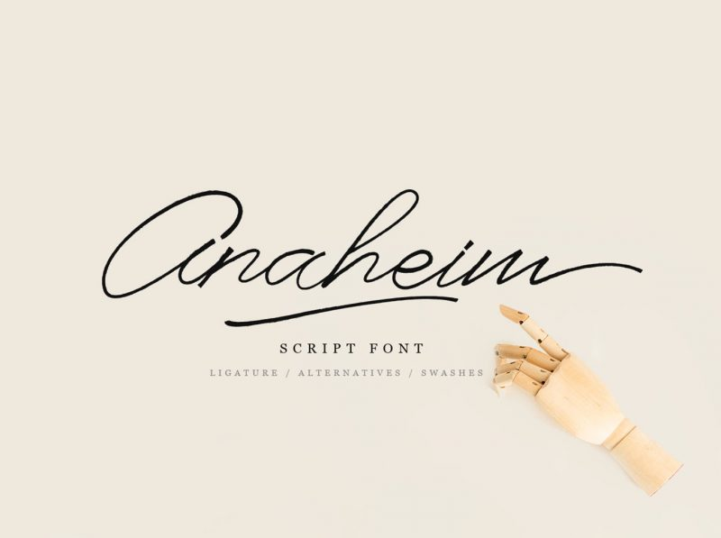Anaheim Font - 85 Cool Free Fonts for the Best DIY Designs in 2019