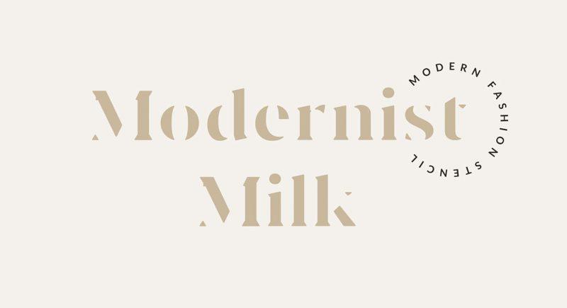 Modernist Milk Font - 85 Cool Free Fonts for the Best DIY Designs in 2019