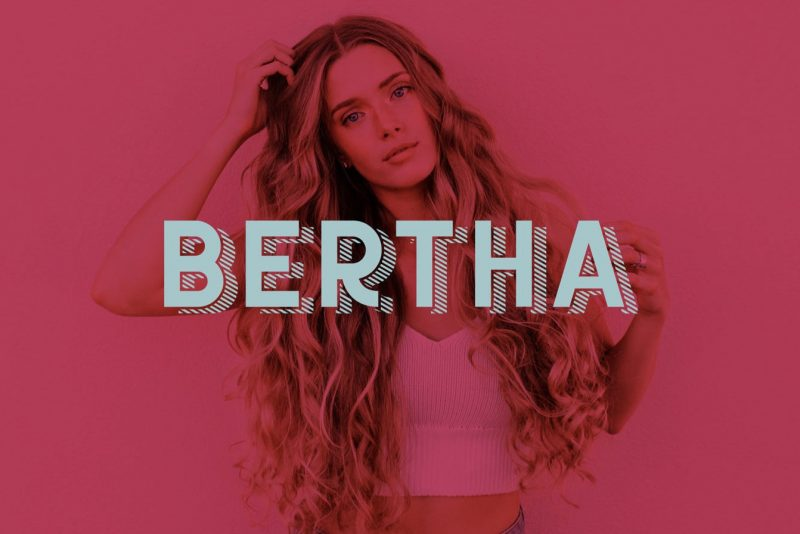 Bertha Font - 85 Cool Free Fonts for the Best DIY Designs in 2019