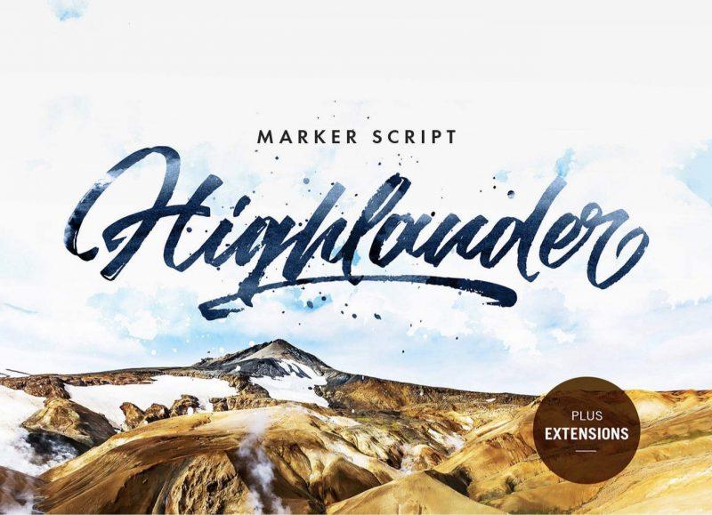 Highlander Font - 85 Cool Free Fonts for the Best DIY Designs in 2019