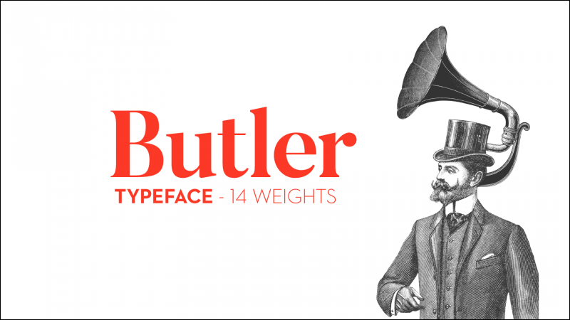 Butler Font - 85 Cool Free Fonts for the Best DIY Designs in 2019