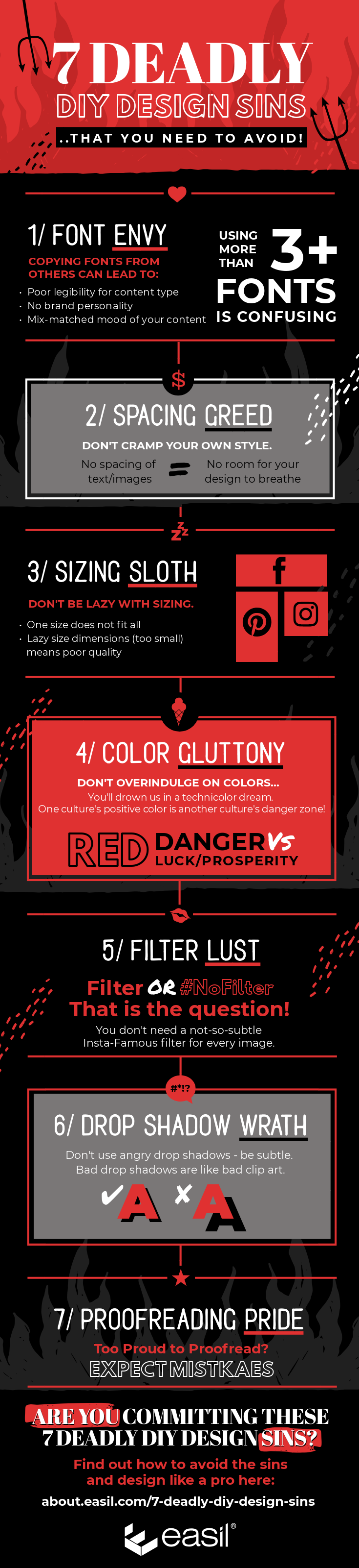 7 Deadly DIY Design Sins Infographic - 7 Deadly DIY Design Sins (and how to avoid them!)