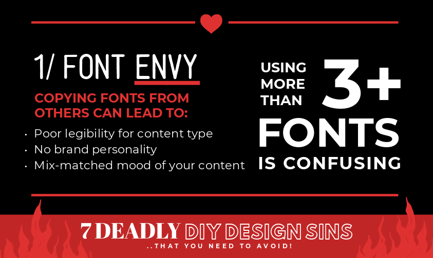 Font Envy - 7 Deadly DIY Design Sins (that you need to avoid!).