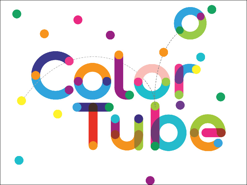 Color Tube Font - 85 Cool Free Fonts for the Best DIY Designs in 2019